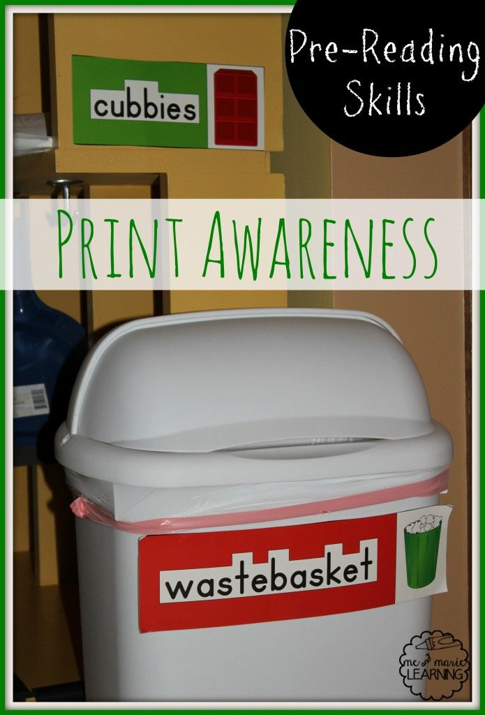 This site has some good ideas for encouraging the print awareness pre-reading skill.