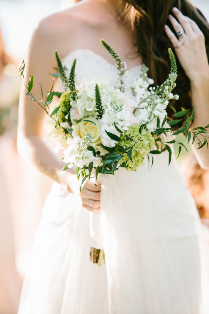 Loose White Wildflower Bridal Bouquet