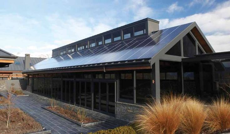 Queenstown Swimming Pool Complex. Design by Graham Roebeck, Structural Integrity. COLORSTEEL® prepainted steel roof in Greyfriars, by Roofing Solutions, Dunedin.