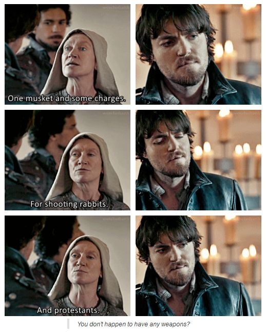 The Musketeers - 1x09 - Knight Takes Queen, Or.... Protestants... lol