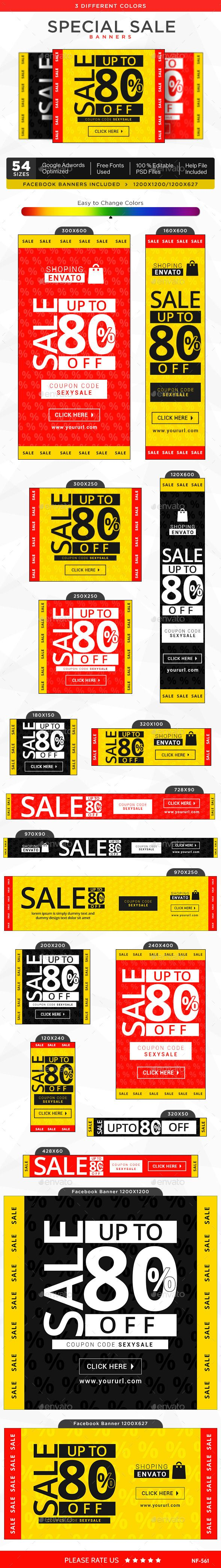Special Sale Banners Template #design Download: http://graphicriver.net/item/special-sale-banners/12411346?ref=ksioks