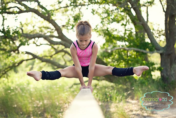 Probably the thing I was best at as a child -Gymnastics. I loved it!