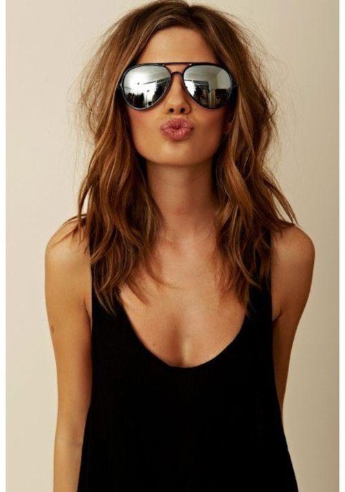 aviators, beautiful, beauty, brunette