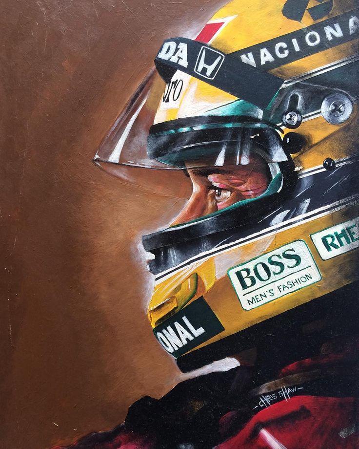 Ilustração - Ayrton Senna