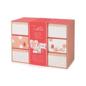 i LOVE THIS! not only do you get a ton of the beauty products and super cute beauty pouch with my fav colors &polka dots on it,but it all comes in this wooden drawer set u can re use! I want to set out in my bathroom to store stuff in! Great buy!***Zoella Awesome Drawersome Bathing Collection