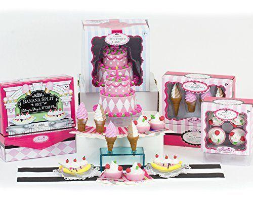 Mini 18 Inch Doll Food Set, Sophia's Complete Sweet Treat Set w/ Ice Cream, Frozen Yogurt, Banana Splits & Cake Doll Accessories for 18 Inch Doll Tea Party Play, 20 Pc & Napkins Doll Items Sophia's http://www.amazon.com/dp/B014FSEVA2/ref=cm_sw_r_pi_dp_-CEBwb1S4MS74