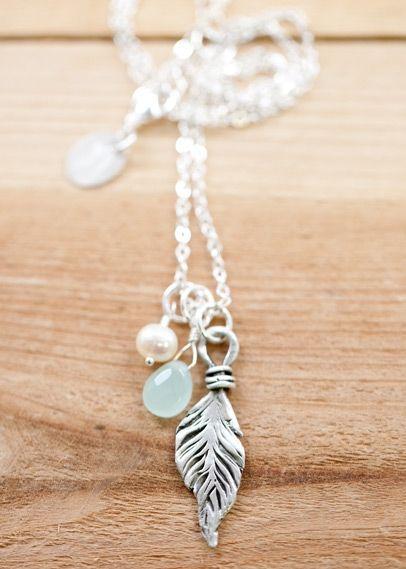 Fine Feather Necklace