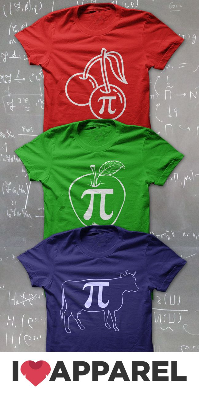 What do you do to celebrate pi day? Is it with Cherry Pie, Apple Pie or Cow Pies? Get your geeky math shirts at iloveapparel.com