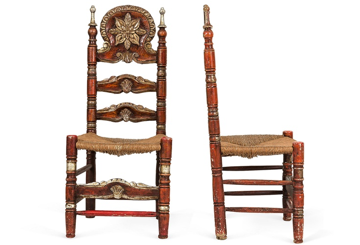 antique mexican chairs - come sit awhile and visit www.mainlymexican.com #Mexico #Mexican #chair