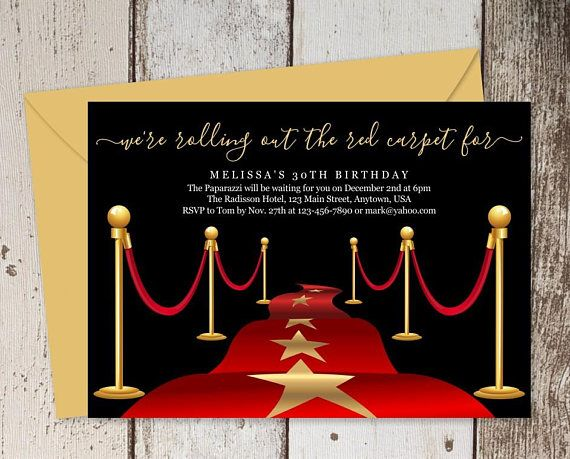 Printable Red Carpet Invitation Template Hollywood Theme Etsy In 2021 Red Carpet Theme Party Red Carpet Invitations Red Carpet Invitations Template