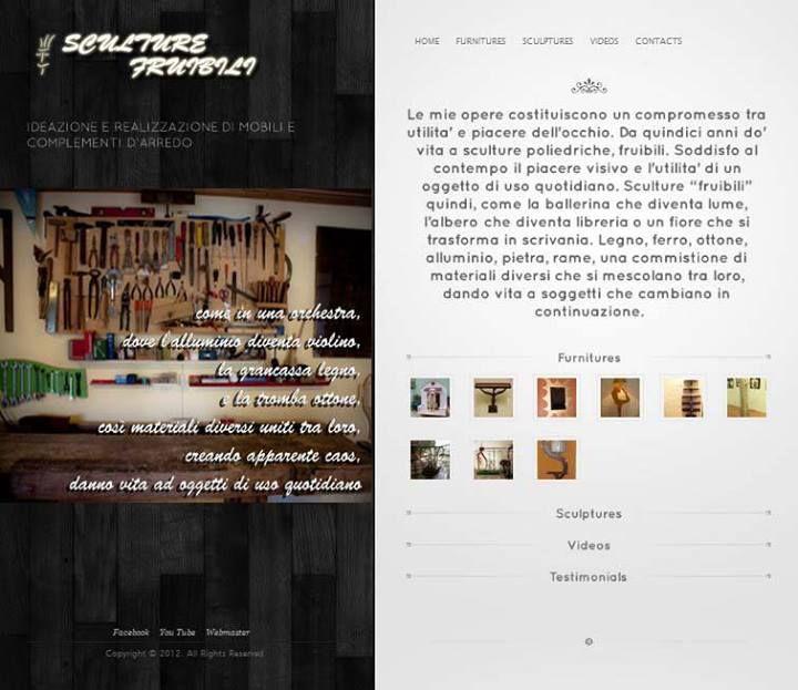 Website for artist Michele Viscogliosi  www.sculturefruibili.it