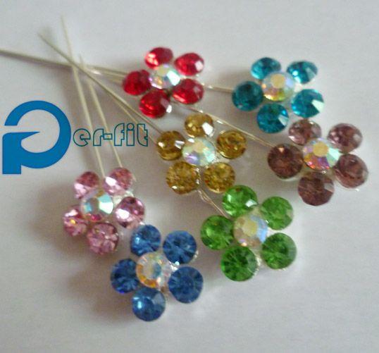 >> Click to Buy << hijab pins scarf pins hot sell muslim khaleeji hijab pins straight fix pin wholesale mix colors one dozen per lot free ship #Affiliate