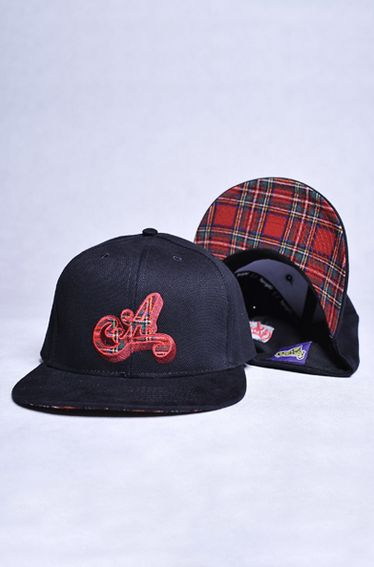 Black snapback cup with red elements - original Arriba product