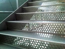 perforated metal stairs - Google Search                                                                                                                                                                                 Más