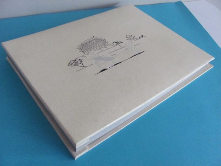 "Vtg SCRAPBOOK PHOTO ALBUM IVORY ASIAN UNUSED Crafts Scrap Booking10""x 13"" Exc! 