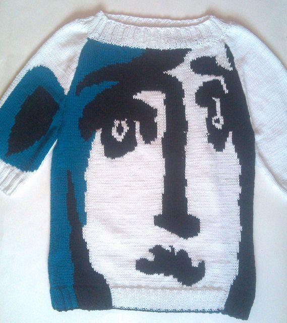 Picasso-Inspired Sweater, Knit By Elena – So Good! | KnitHacker