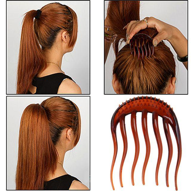 2pcs Color Useful Volume Inserts Hair Clip Bumpits Bouffant Ponytail Hair Comb Hairpin Fluffy Hair Hairband Hair Accessories Hair Styles Volume Hair Hair Clips