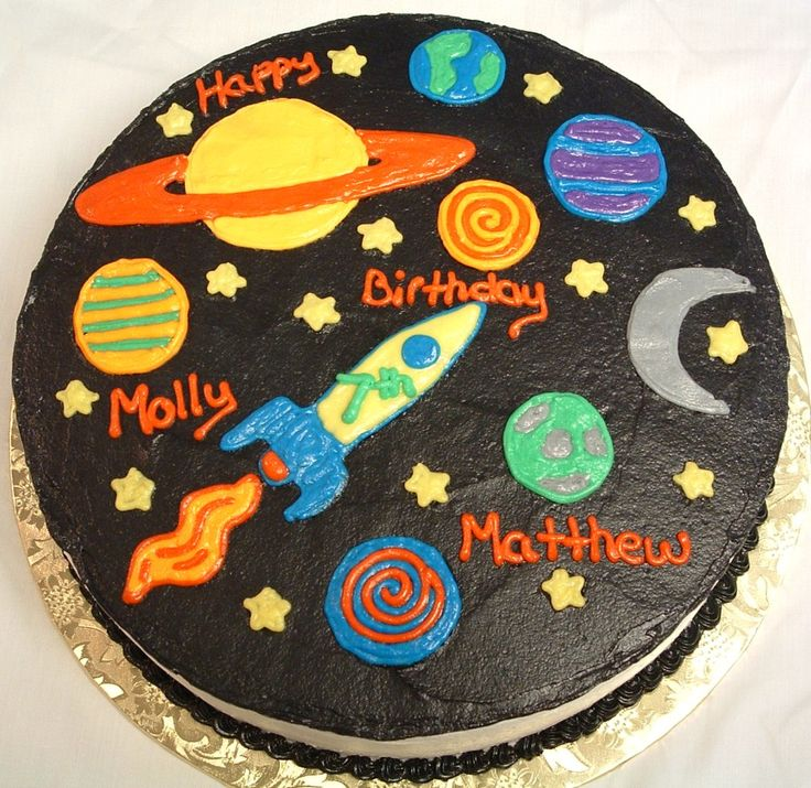 space birthday cake ideas | cake top 2 tier candy land cake bottom present cake