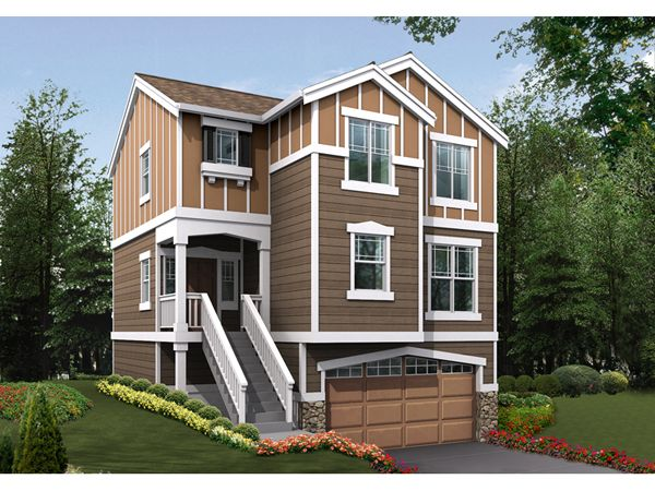 Narrow House Plans With Car Garage on narrow house plans with carport, narrow house plans with 4 bedrooms, narrow house plans with front porch, narrow house plans with lots of windows, narrow house plans with basement, narrow house plans with loft,