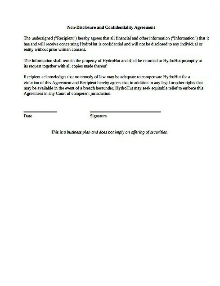 Non Disclosure Agreement Template Pdf Unique Non Pete Non Disclosure Agreement Pdf Free Brochure Template Itinerary Template Free Contract Template