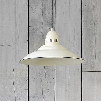 Shoreditch Industrial Ceiling Light in Ivory