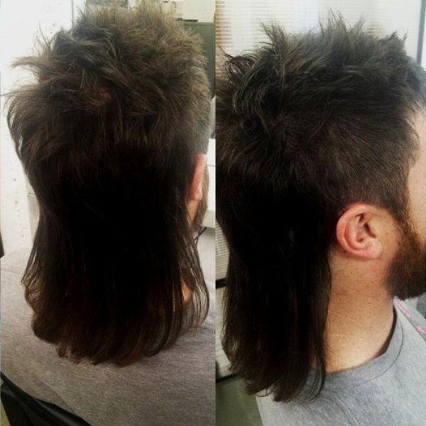 "EVOCATIVE: long mullet hairstyles aka vokuhila (german abbreviation for ""vorne kurz, hinten lang"")"