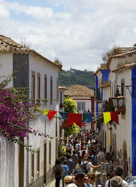 The streets of Obidos in the summer