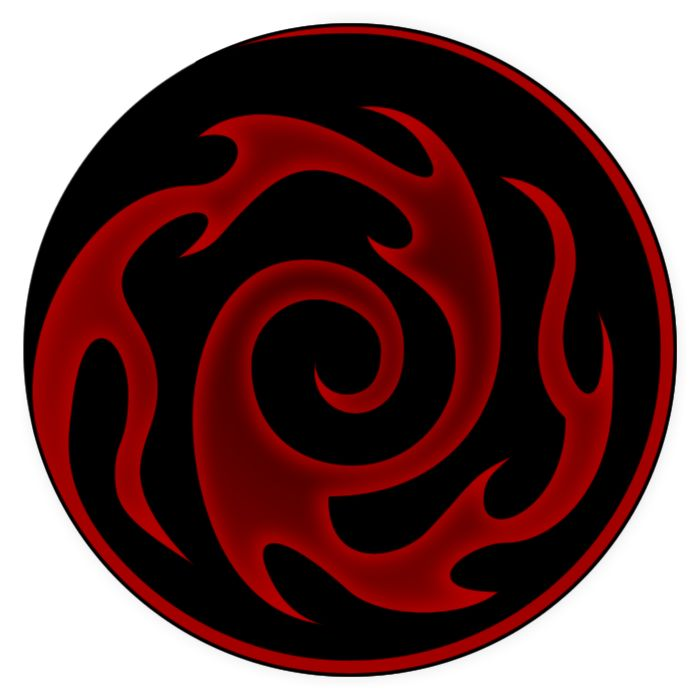 My version of the Berserk dark gift symbol from Blood Omen 2: Legacy of Kain. Blood Omen 2: Legacy of Kain belongs to Crystal Dynamics.