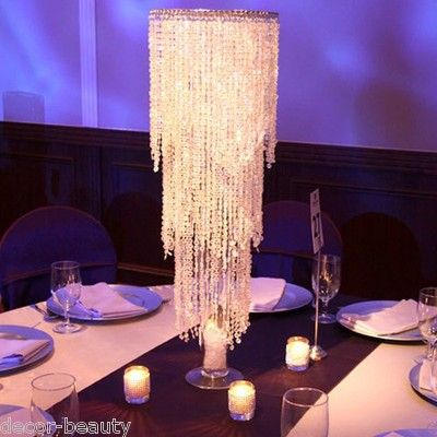 1000 ideas about chandelier centerpiece on pinterest for Plastic chandeliers for parties