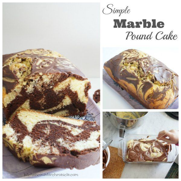 Chocolate or vanilla? You don't need to pick a favourite with this delicious recipe for marble pound cake - so simple the kids can help make it.