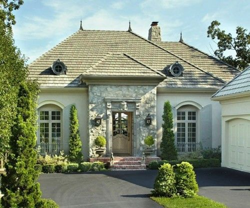 Hm..: Country French, French Country Stones Exterior, Home Exterior, Front Doors, Design Home, French Home, French Design, Houses Design, French Style