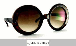 Ashley's Super Big Sunglasses - 527 Brown