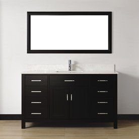Gallery For Photographers Spa Bathe Kenzie Espresso Undermount Single Sink Bathroom Vanity With Engineered Stone Top Common