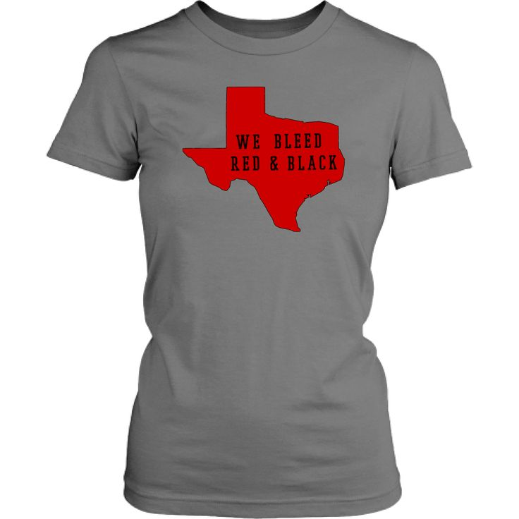 Texas Tech Red Background We Bleed Red and Black Junior T-Shirt