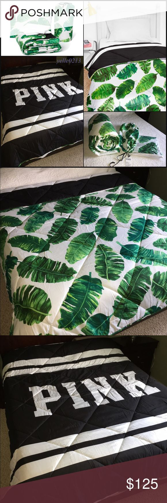 SALENwt VS PINK Bed in a Bag Set Twin/Twin XL Nwt VS PINK Bed in a Bag Set..  Size Twin/Twin XL.. Tropical Palms..  Includes: 1 Fitted Sheet 1 Bed Sheet  1 Pillow Case 1 Reversible Comforter  BRAND NEW NEVER USED.. (The Sample picture is not Twin its a Full/Queen size)  Price is firm..  Thank you.. PINK Victoria's Secret Accessories