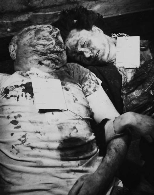 Benito Mussolini And His Mistress Clara Petacci In The