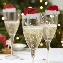 Santa Hat Glass Decorations - Christmas Cheer