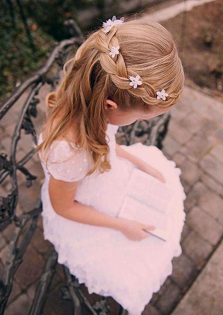 Kommunion Frisuren festliche Frisuren für kleine Mädchen in 2020 | Kommunion frisuren, Kommunion