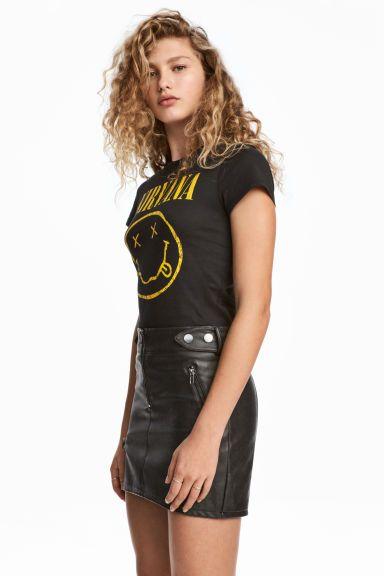 T-shirt z nadrukiem - Czarny/Nirvana - ONA | H&M PL 1