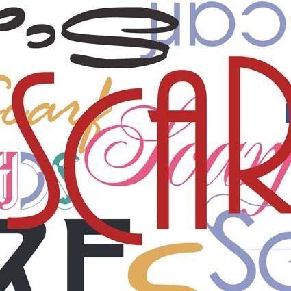 Scarf Typo by Aleksandrina Mihalkova, via Behance