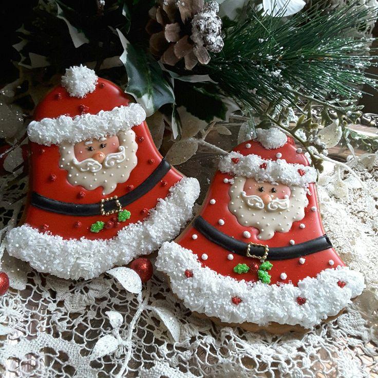 Gingerbread Santa Christmas cookies