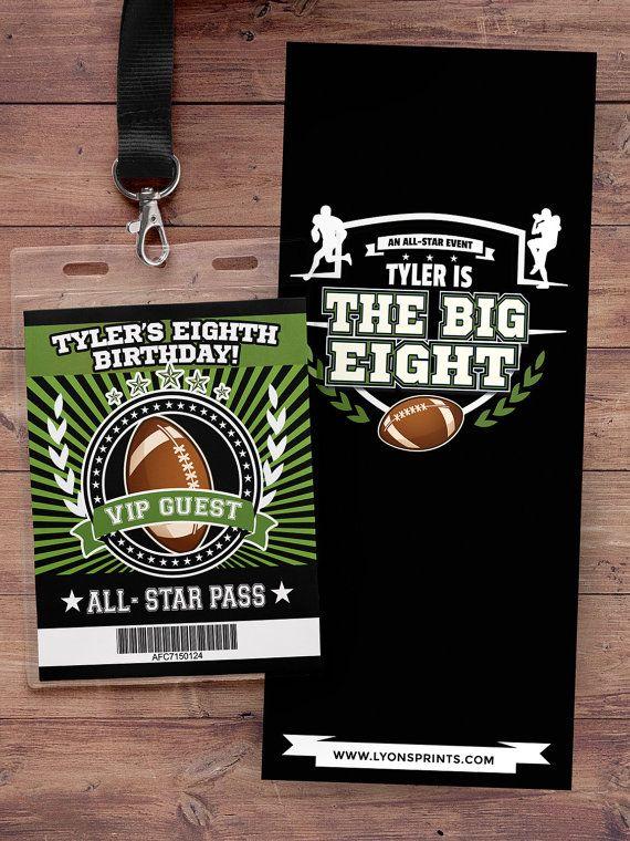 Football ticket Invitation // All Star Birthday //  VIP pass