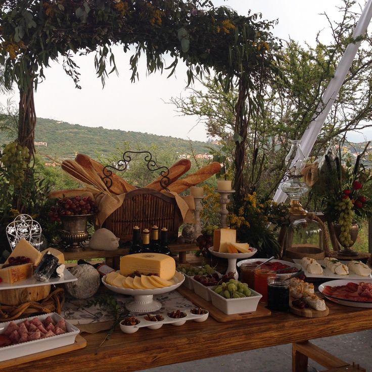 Mesa de quesos y carnes frías, San Miguel de Allende, #Catering.