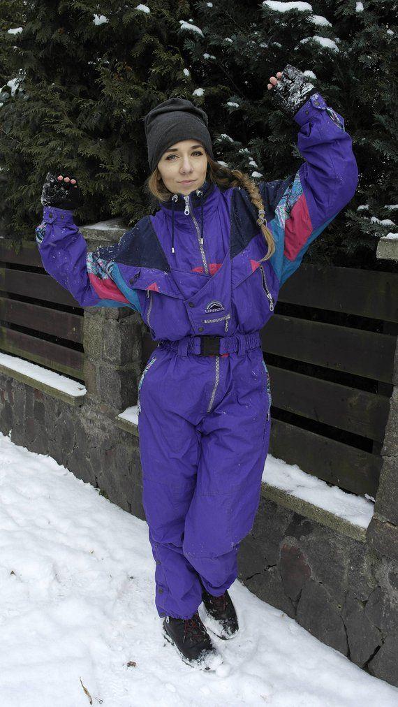 a1b1fdf706 Vintage One Piece ski suit   UNICA One Piece Skiing Suit   Color ...