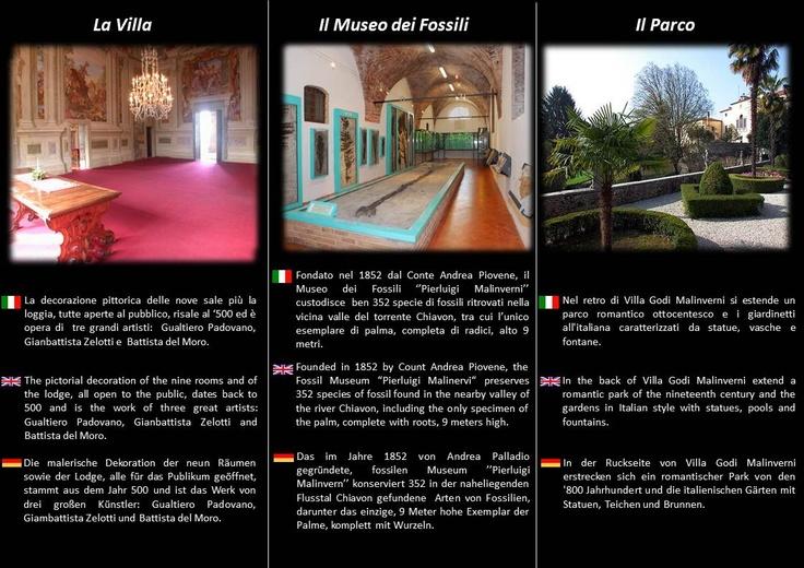 VILLA GODI MALINVERNI:    - Sale Interne    - Museo dei Fossili   - Parco #beautiful #gardens #park #villagodi #malinverni #palladio #palladian #villevenete #venetianvillas #culture #vicenza #italy