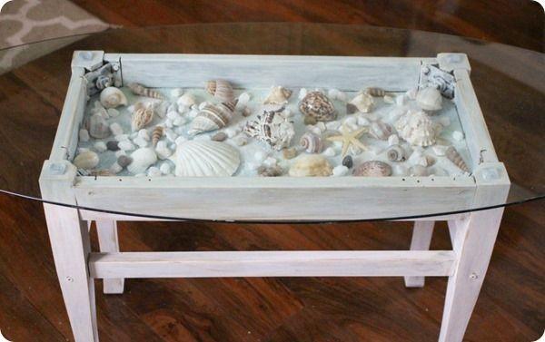 Seashell Decor 17 Gorgeous Seashell Crafts Lovely Etc Sea Shell Decor Beach Inspired Decor Shadow Box Table