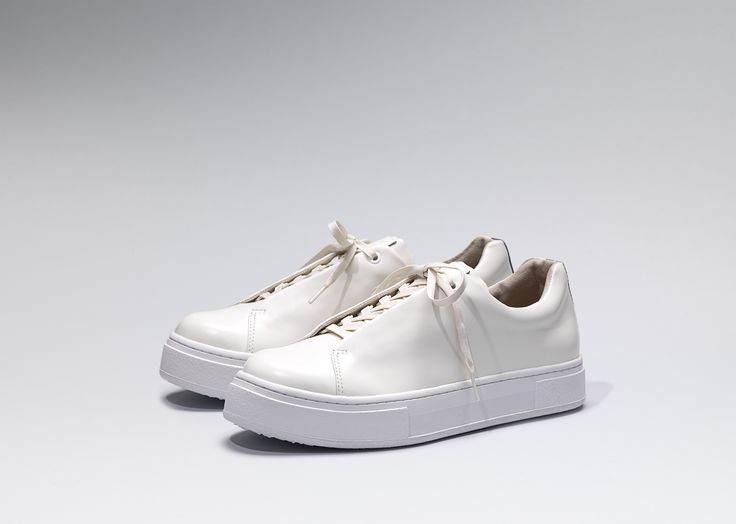 #Eytys Doja Leather in White.