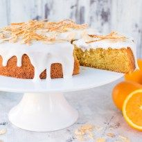 Orange Drizzle Cake with Candied Orange Peel - Nicky's Kitchen Sanctuary