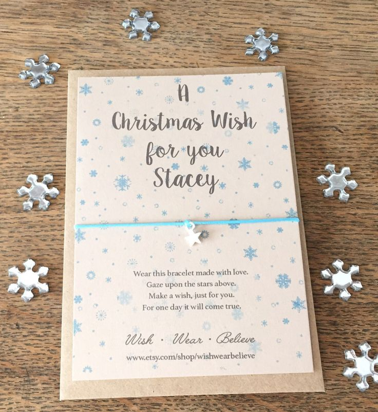 A Christmas Wish Bracelet – personalised