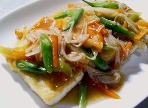 Vegetable sauce ☆ diet of tofu steak (Rakuten no.4 tofu steak recipe)